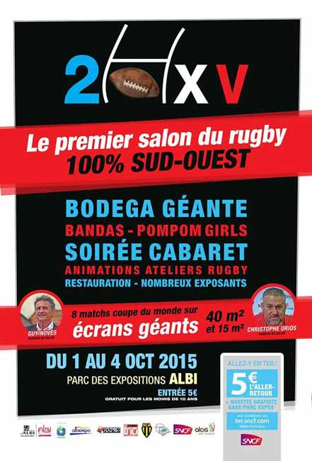 salon du rugby 2015 parc des expositions albi le s questre jeudi 1 octobre au dimanche 4. Black Bedroom Furniture Sets. Home Design Ideas