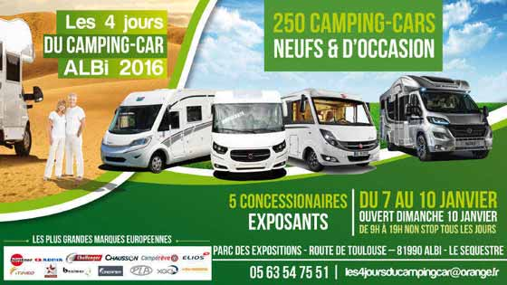 salon du camping car 2016 parc des expositions albi le s questre jeudi 7 janvier au. Black Bedroom Furniture Sets. Home Design Ideas