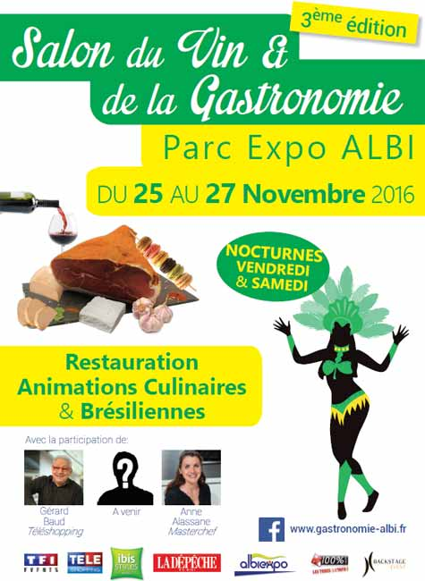 terroir gourmand 2016 salon de la gastronomie parc des expositions albi le s questre. Black Bedroom Furniture Sets. Home Design Ideas