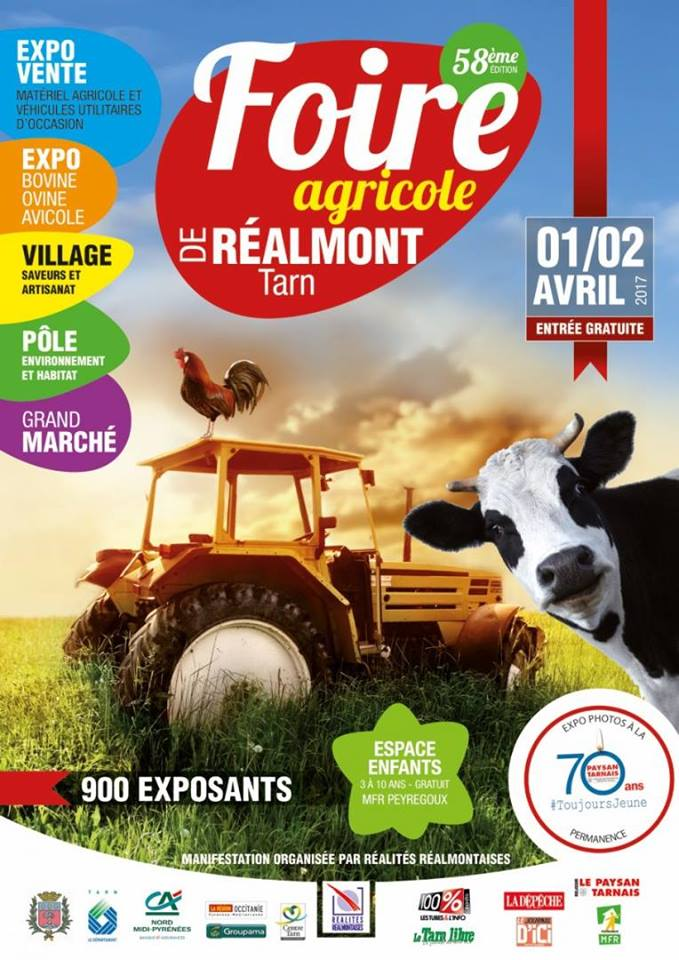 58i me foire agricole de r almont samedi 1 avril au dimanche 2 avril. Black Bedroom Furniture Sets. Home Design Ideas